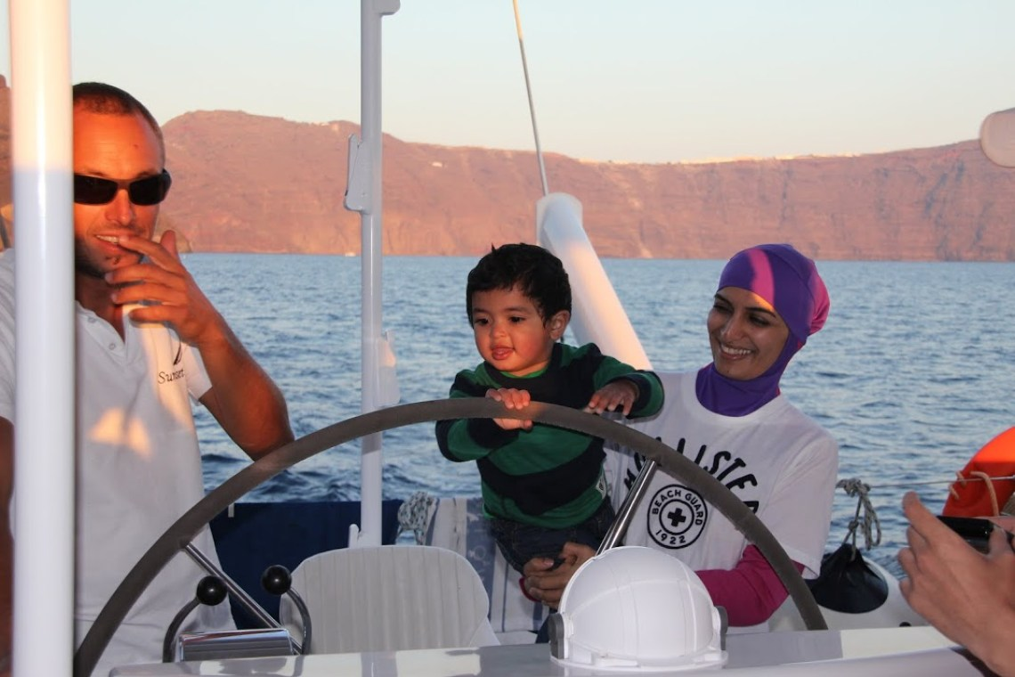 kids love greece santorini family sailing sunset tour