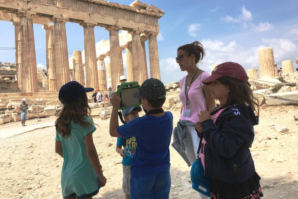 Acropolis parthenon virtual reality 3d tour KidsLoveGreece.com