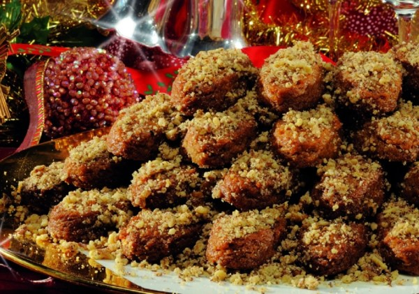 Greek Christmas Traditional Cookie Baking