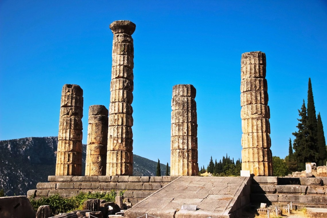 Percy Jackson Mythology Family Trip 7-day Package kids love greece activities for families Delphi archaeological site