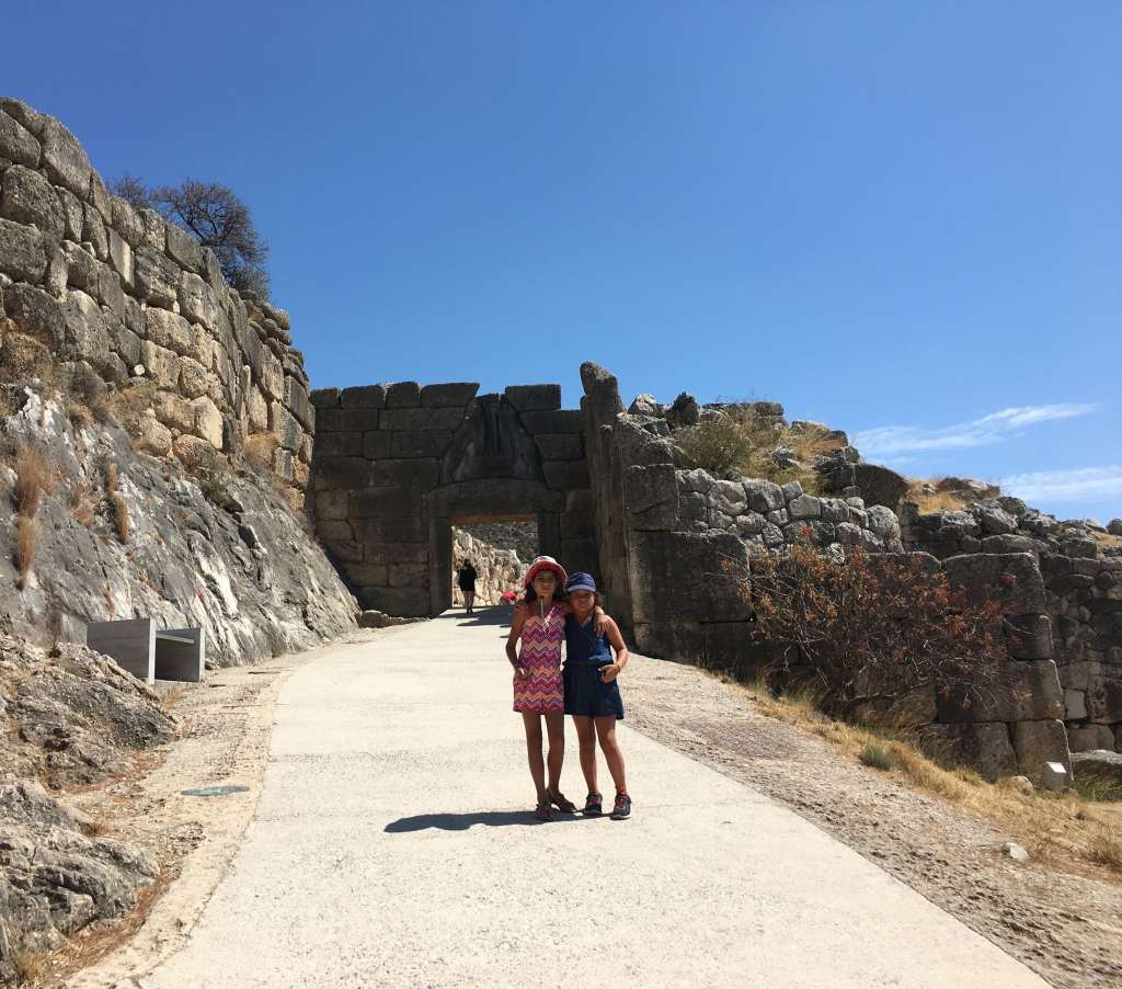 Mycenae family guided tour kids love greece Peloponnese Percy Jackson Mythology Family Trip 7-day Package activities for families