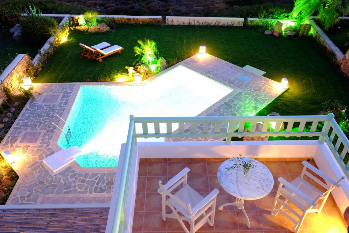 kids love greece accommodation for familes Naxos private 3 bedroom family villa valea