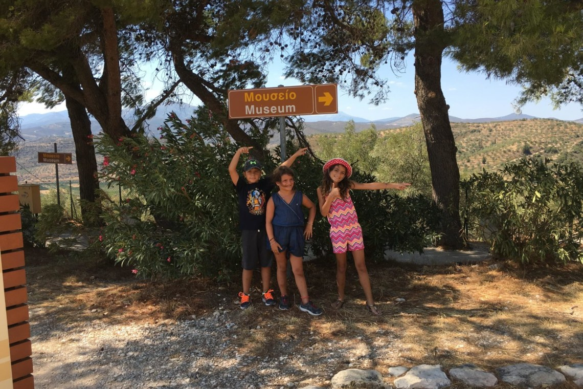 road trip Athens to Argolis family day trip Mycenae activities for families Peloponnese kids love greece