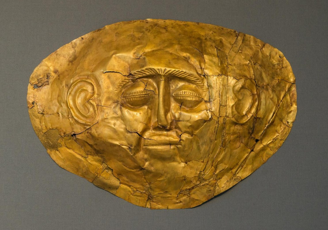 golden mask Mycenae KidsLoveGreece.com