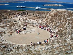 Mykonos family cruises ancient Delos Rhenia Cyclades Mykonos island kids love greece activities for families