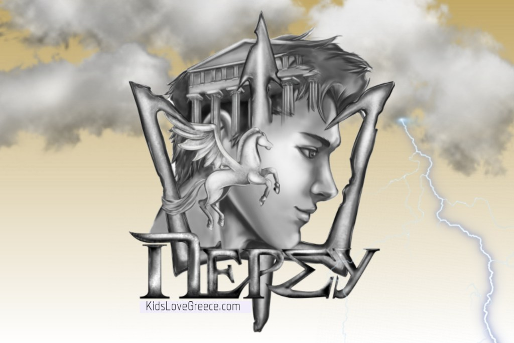 Percy Jakson trident pegasus and acropolis KidsLoveGreece.com mythology tours