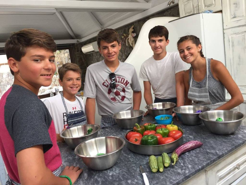family cooking class in Mykonos traditional greek dishes gastronomy kids love greece activities for families Cyclades workshops