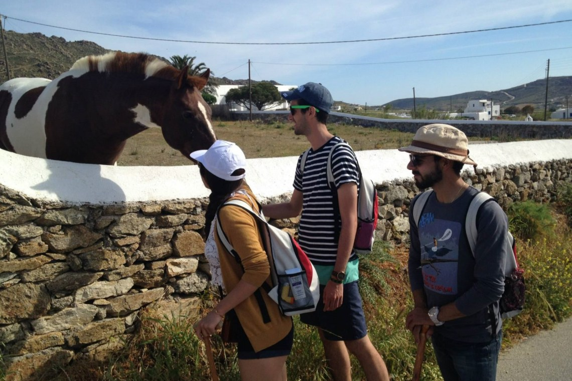 Cyclades activities for families guided family hiking adventure in Mykonos island kids love greece