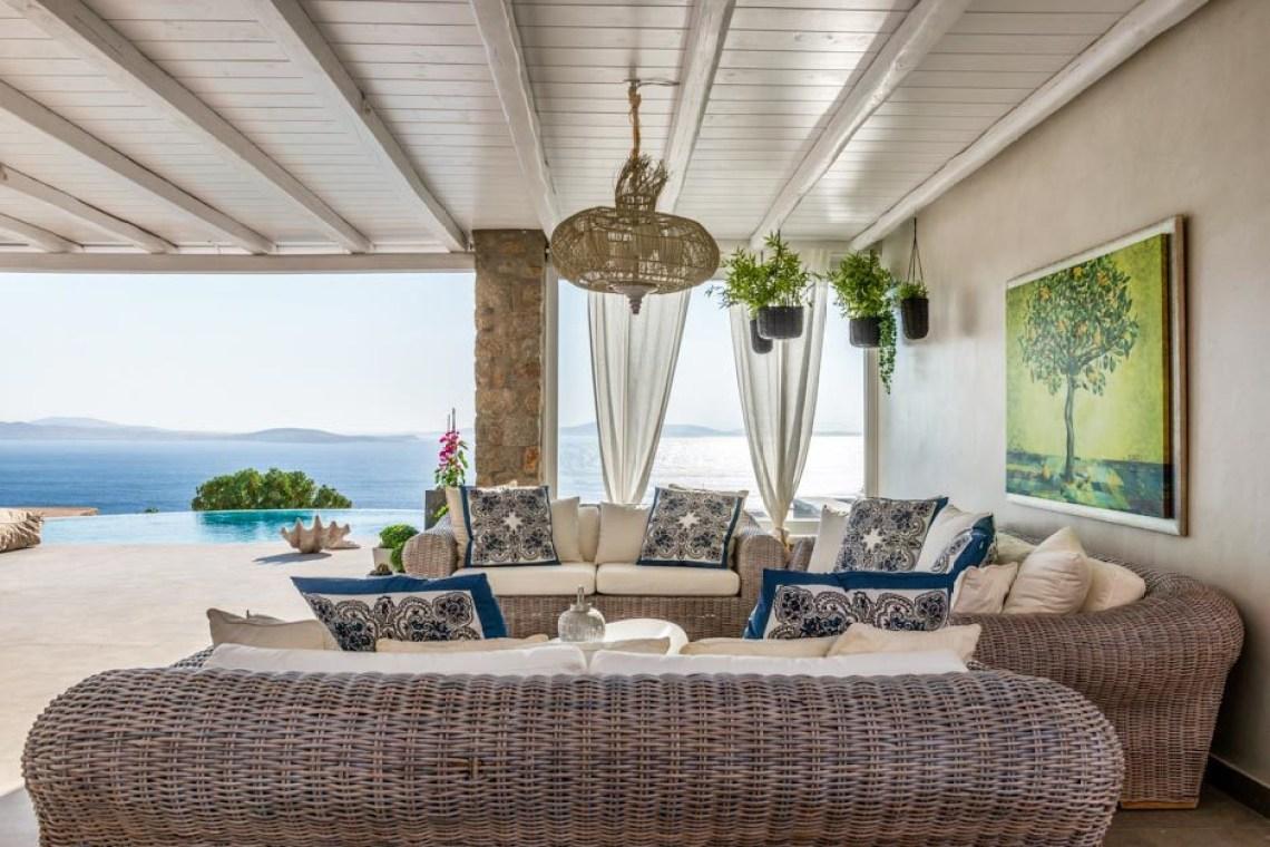 the Ioannou residence Agios Ioannis beach luxury bohemian family villa in Mykonos island accommodation for families Cyclades kids love greece