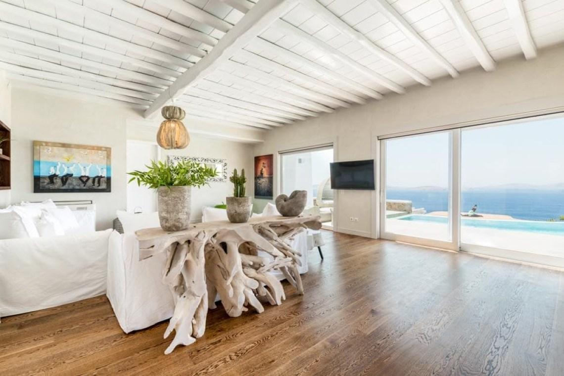 kids love greece luxury bohemian family villa in Mykonos island the Ioannou residence Agios Ioannis beach Cyclades accommodation for families