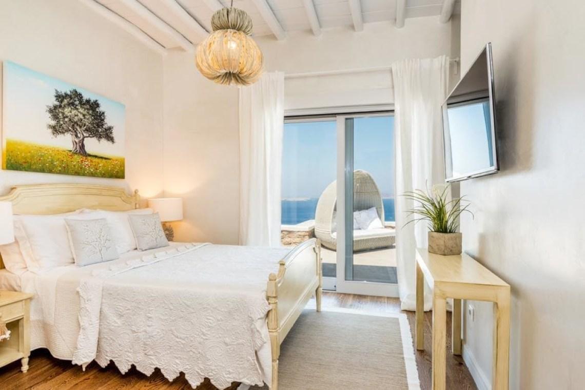 luxury bohemian family villa in Mykonos island Agios Ioannis beach Cyclades kids love greece accommodation for families the Ioannou residence