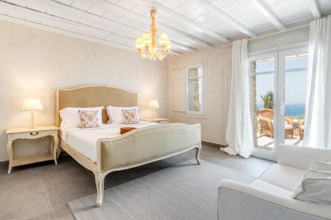 luxury bohemian family villa in Mykonos island the Ioannou residence kids love greece accommodation for families Agios Ioannis beach Cyclades