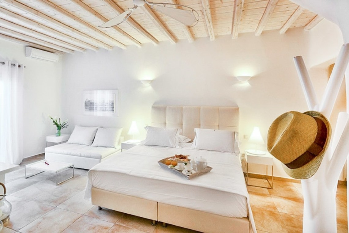 kids love greece accommodation for families Cyclades spacious family vacation villa in Mykonos island Sophia residence Ornos bay