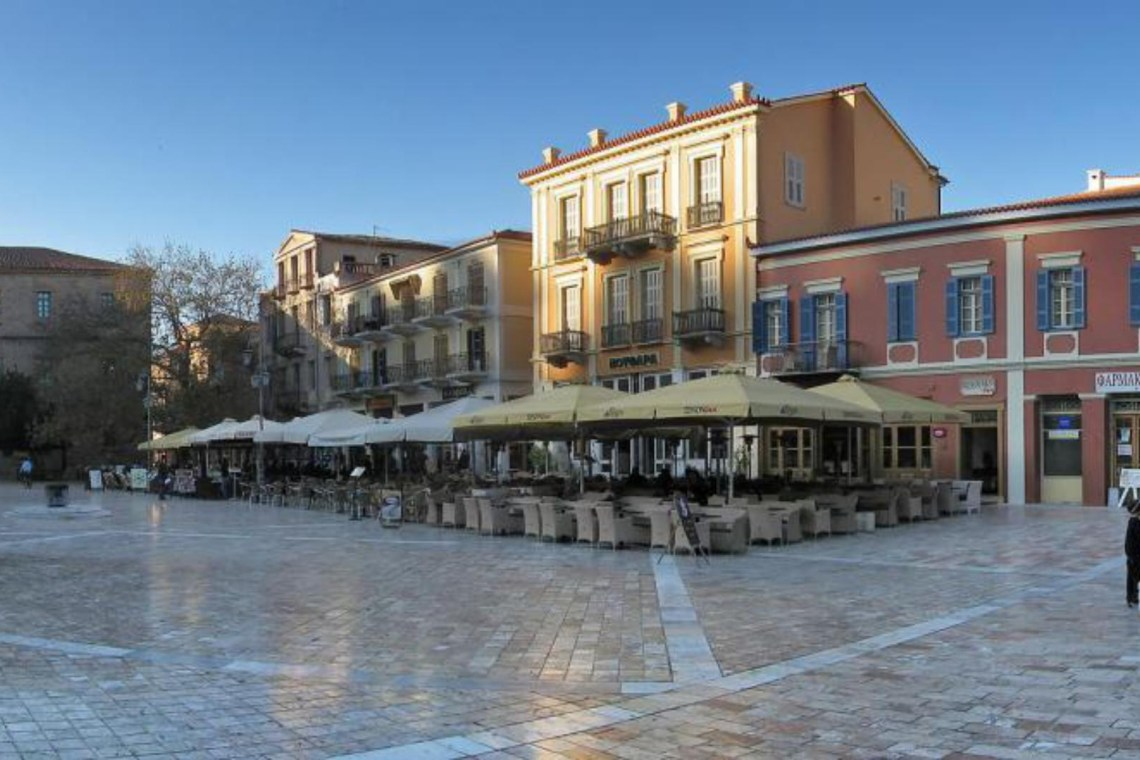 Nafplion square in old town