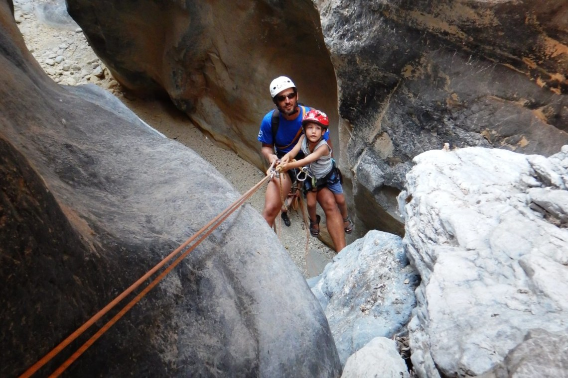 canyoning family adventure crete kids love greece outdoor activities