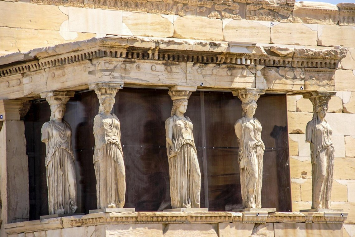 Caryatids on Acropolis hill