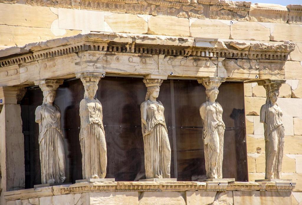 Caryatids on Acropolis hill