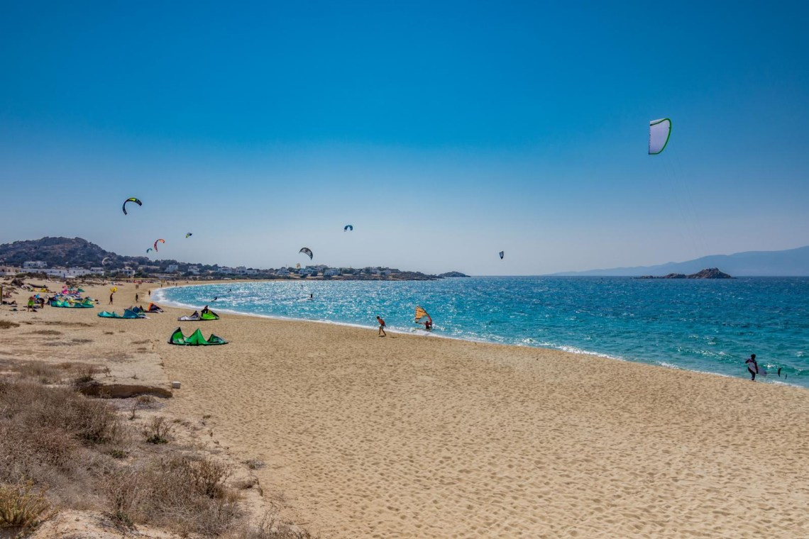 Surfkite at Naxos beach