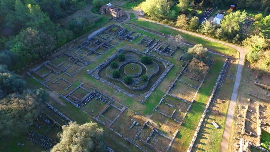 ancient Olympia ruins aerial