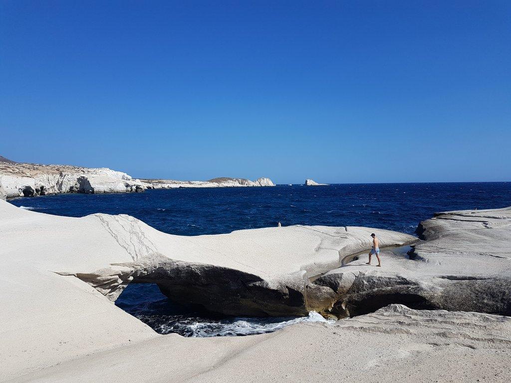 Sarakiniko beach in Milos