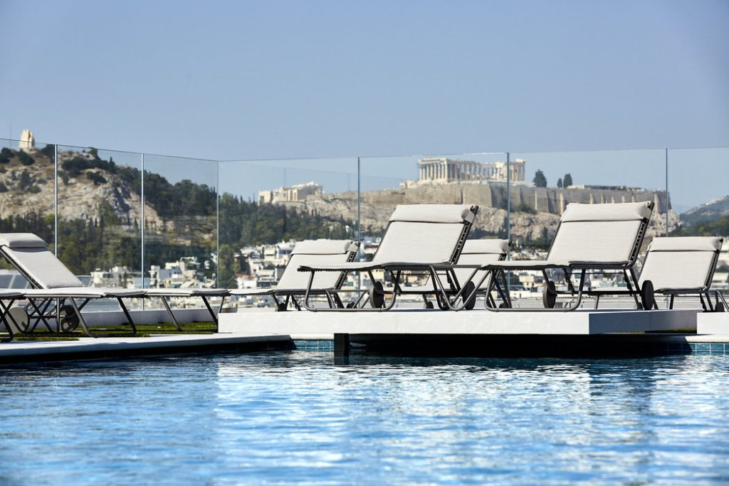 Roof Top Pool in the Grand Hyatt Athens Greece