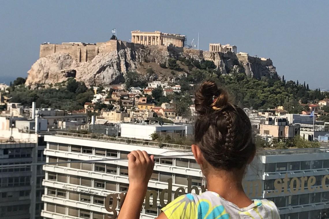 Acropolis Athens Kids best view