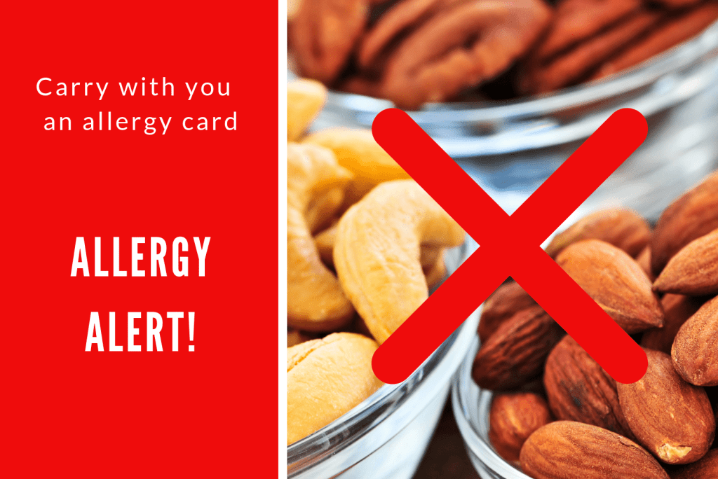 Nut Allergy travel to Greece