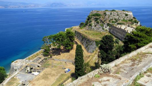 Corfu island castle greece