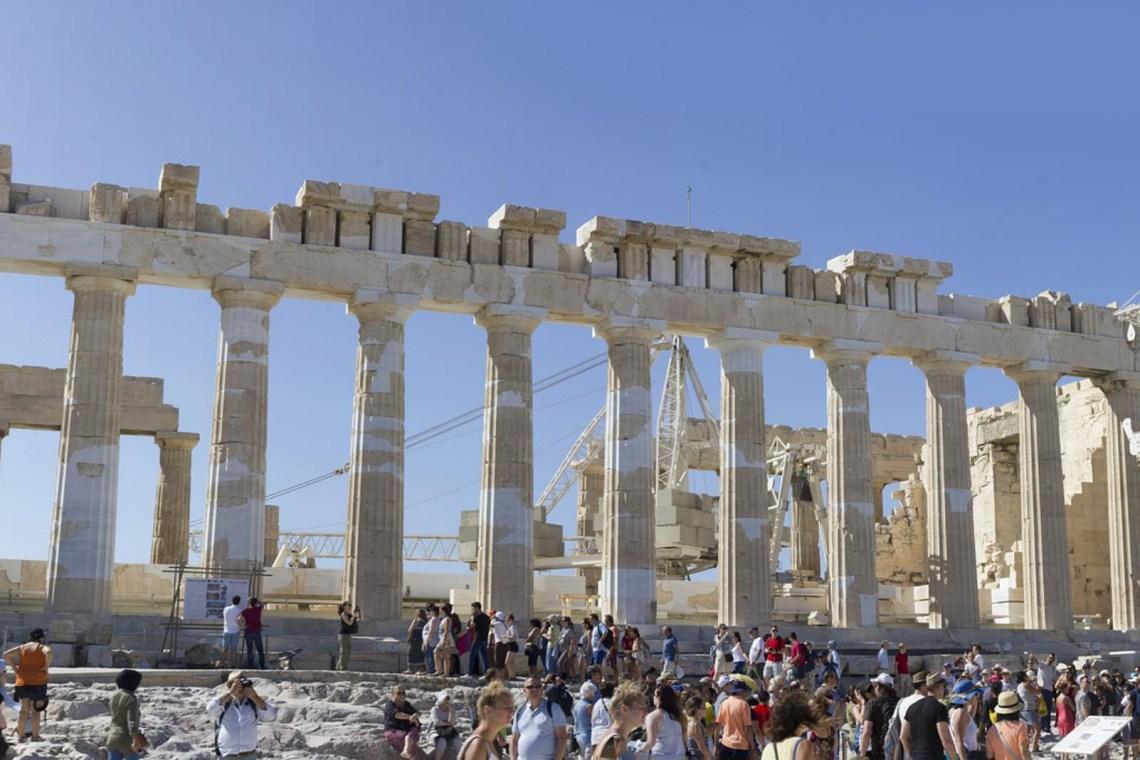 Parthenon Acropolis crowd