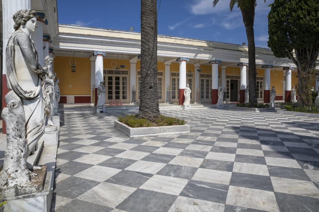 Courtyard of the Muses, Achilleion Palace, Corfu, Greece DP-min Achillion