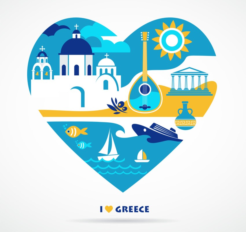 Travel Greece Heart Love Valentine I love Greece