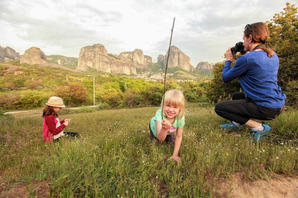 Visit Meteora with kids day trip from Athens view