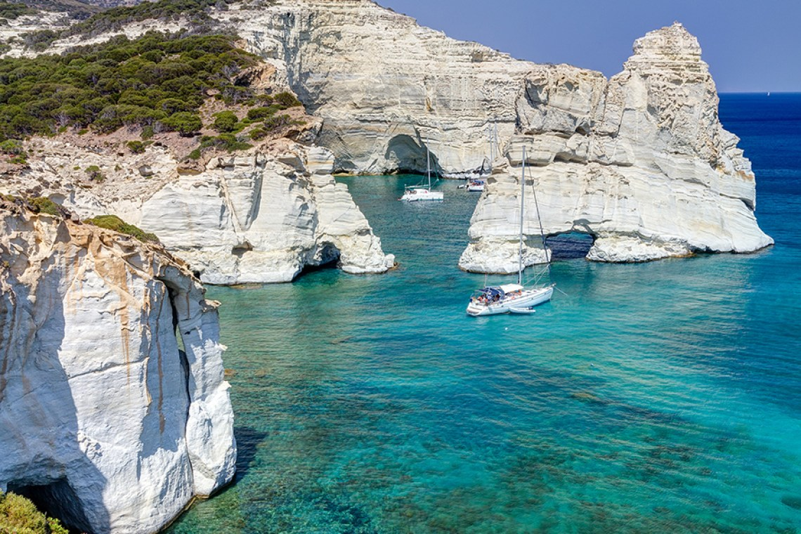 Sailing around Milos