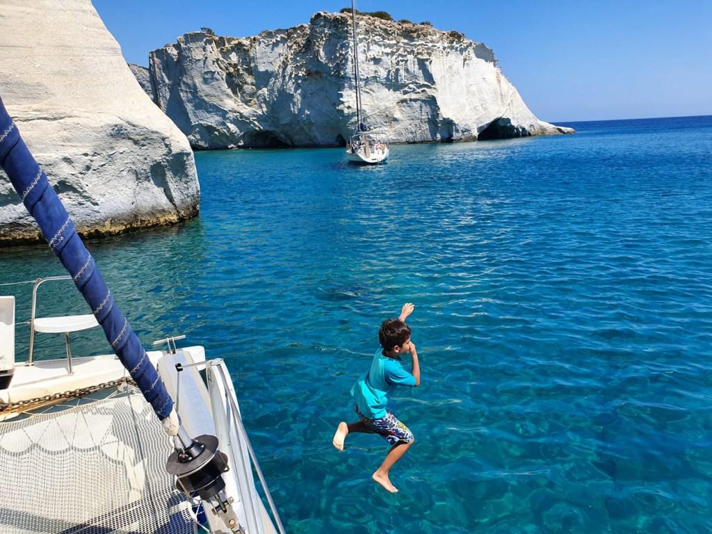 Sailing around Milos