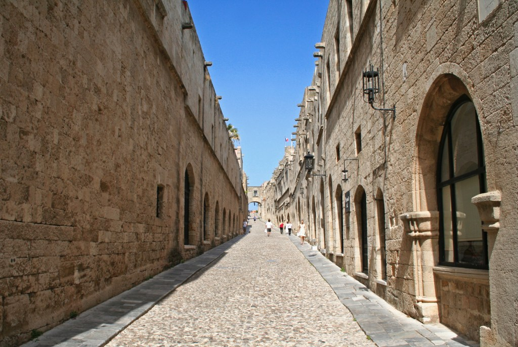 Greece. Rhodos island. Old Rhodos town. Street of the Knights (Now Embassy street)