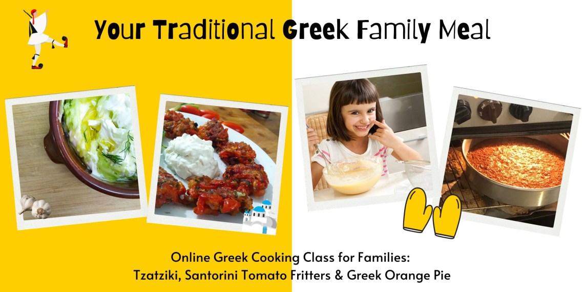 Online Cooking Class Tzatziki Orange pie