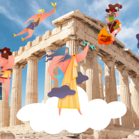 Greek Mythology for kids: Greek Gods, their Symbols and Temples in Greece