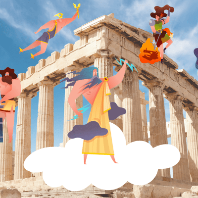 Greek Mythology for kids: Greek Gods, their Symbols and Temples in Greece
