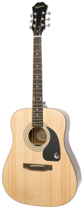 11-up acoustic Epiphone DR-100 Acoustic Guitar Natural trans