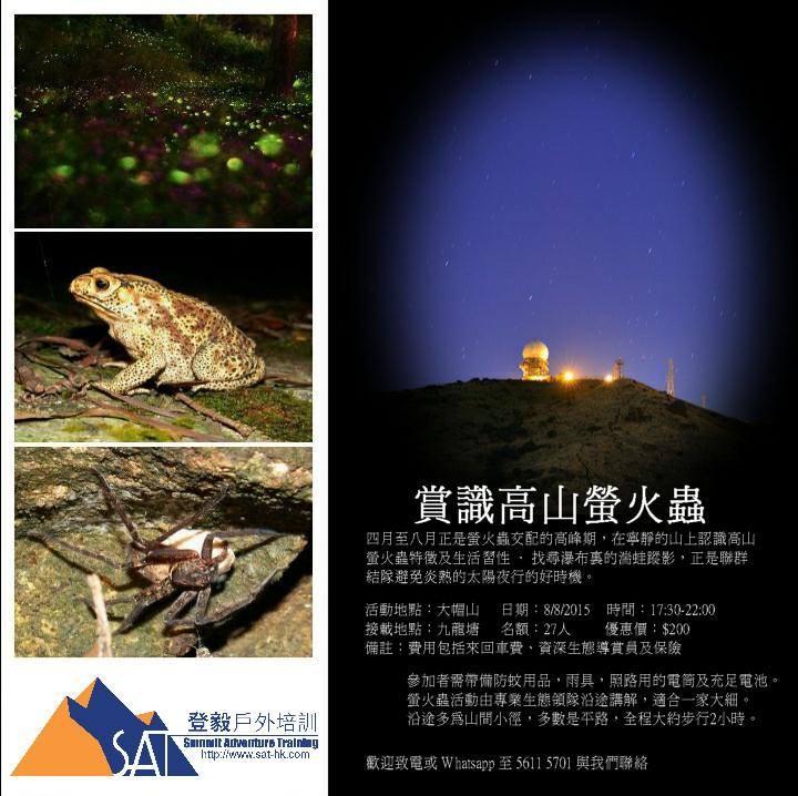 生態導賞-觀賞螢火蟲親子活動