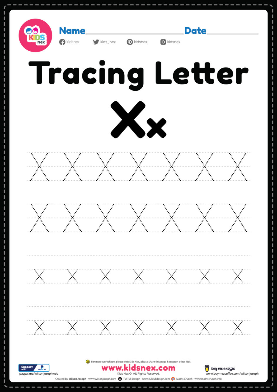 100+ worksheets that are perfect for preschool and kindergarten kids and includes activities like. Free Printable Pdf Tracing Letter X Alphabet Worksheet