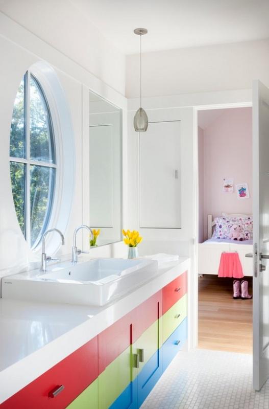 kids bathroom designs 2017 - Grasscloth Wallpaper on Fun Bathroom Ideas  id=97925