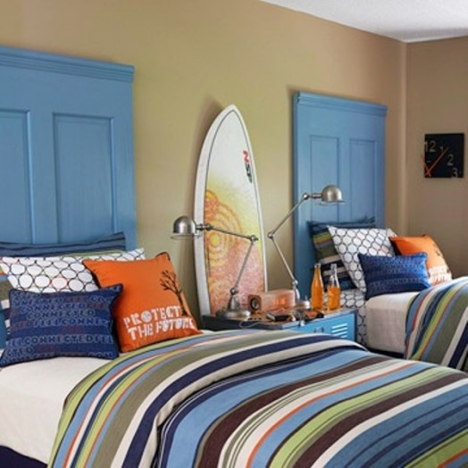 15 Headboard Design Ideas For A Shared Kids Bedroom ... on Bedroom Reference  id=66368
