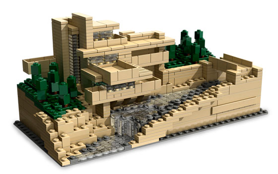 New Fallingwater Lego Building Kit for Future Architects   Kidsomania You could find the further information about this Lego model on  Fallingwater site