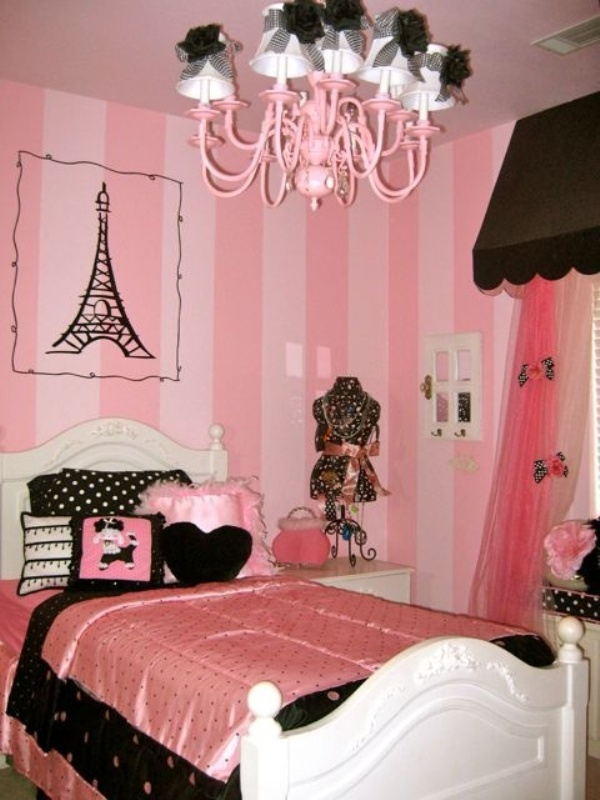 How To Create A Charming Girl's Room In Paris Style ... on Room Decorations For Girls  id=38292