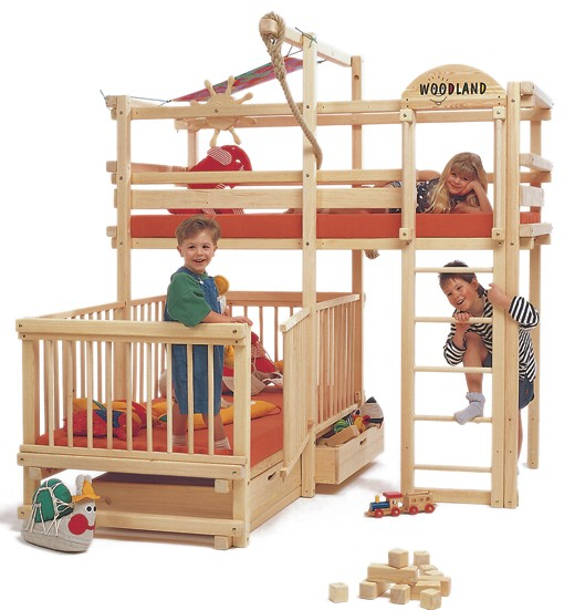 Play Bunk Beds For Large Families From Woodland Kidsomania