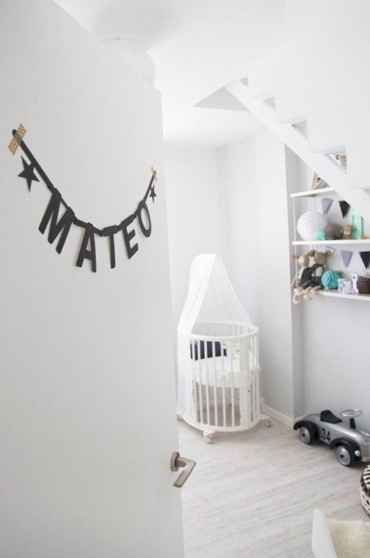 Scandinavian Styled Nursery With Sweet Mint Accents