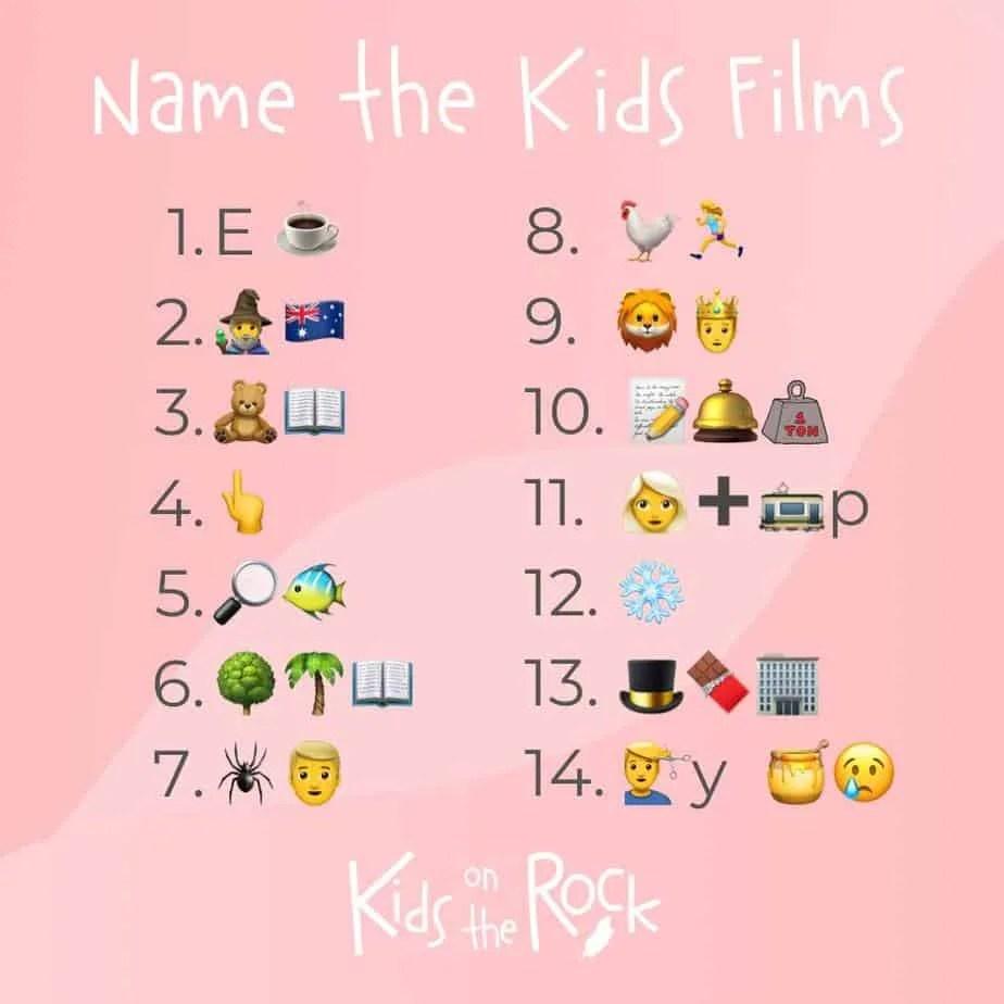 Name the kids film - Emoji Quiz