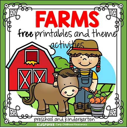 While it's tempting to curl up with a laptop or fire up netflix on a day off, crafts are another fun way to get the creative juices flowing. Farm Animals Theme Activities And Printables For Preschool And Kindergarten Kidsparkz