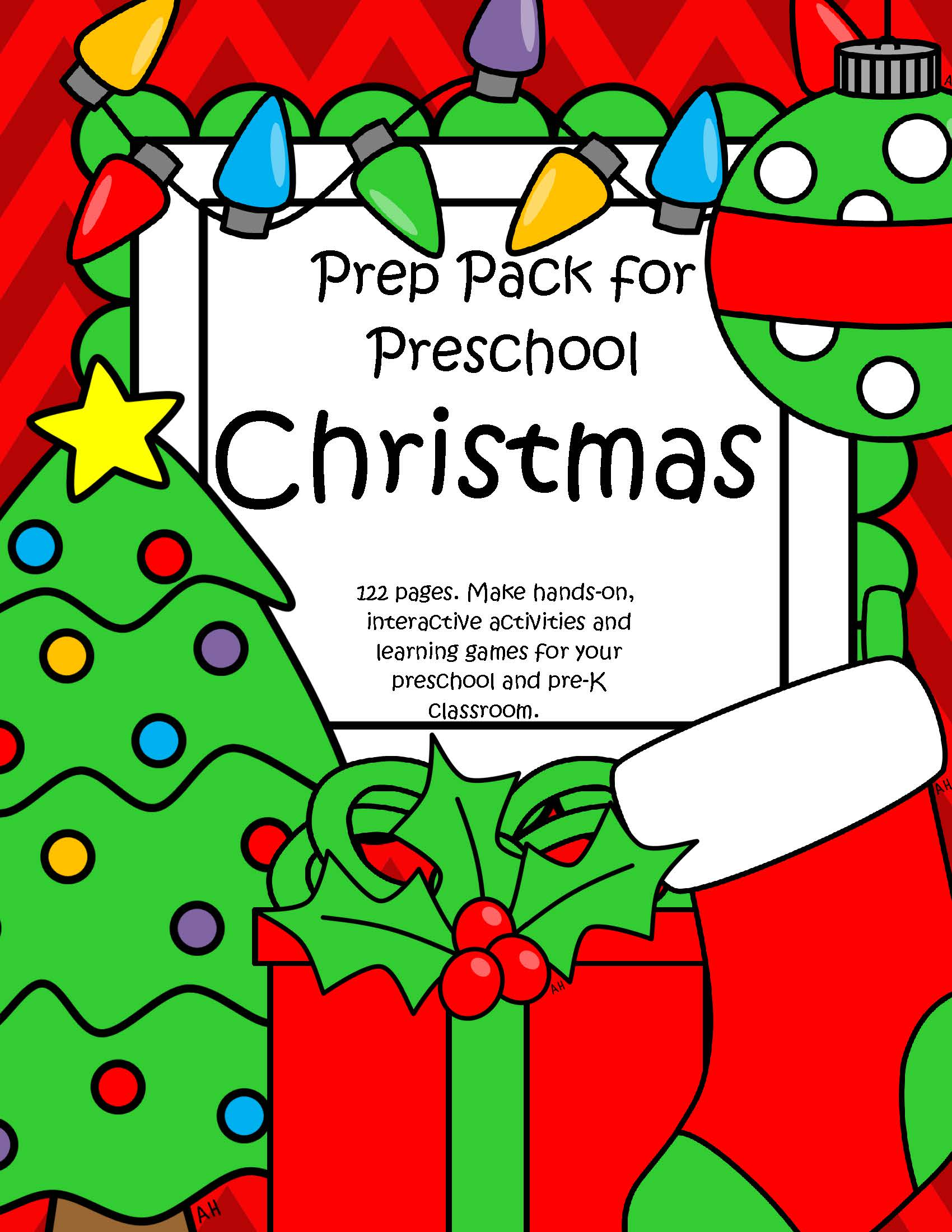 Christmas Theme Pack For Preschool And Pre K
